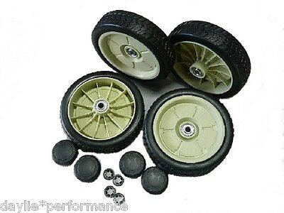 SET of 4 X 200mm Dual Ball-Bearing WHEELS for HONDA 19 & 21 inch Lawn Mower