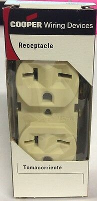 Eagle Electric Cooper Wiring Devices  p/n 815V-Box Duplex Receptacle 20A-250 NOS