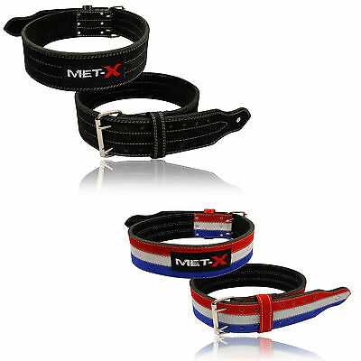 MET-X Heavy Duty Power Lifting Belts All Sizes M-3XL Lifting Belts Thick New