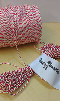 Red and White Bakers Catering String Twine - 300m spool