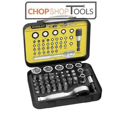 Stanley 39 Piece Fatmax Bit And Socket Set With Ratchet  Sta113906