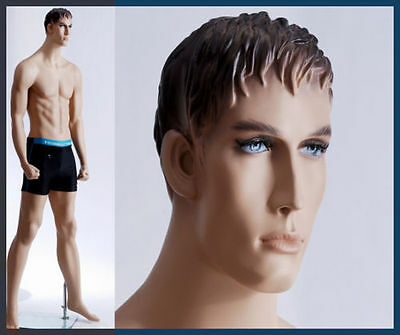 Male mannequin display boxer, man with fist, hand made full body manikin - Ken