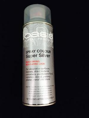 OASIS FLORIST SILVER SPRAY PAINT GREAT FOR CHRISTMAS DECORATION Wholesale offer