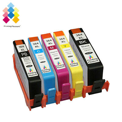 364 XL CHIPPED Generic Ink Cartridge Replace for 5 PACK PRINTER