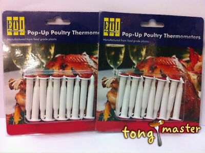 20 x Disposable Pop Up Timer/Thermometer (Poultry/Meat/Fish)