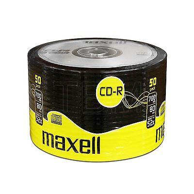 Maxell CD-R 80 Discs Recordable 700MB 80Min (52x) 50 Pack Shrink Wrap CDR80
