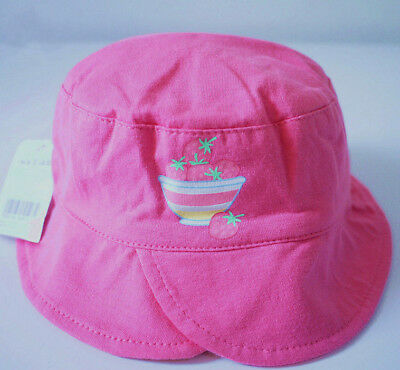 New Born Newborn Baby Girl Kid Child Toddler Cotton Bucket Sun Cap Hat Sunhat