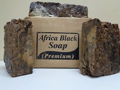 Raw African BLACK SOAP Organic Unrefined From GHANA Premium Quality CHOOSE SIZE