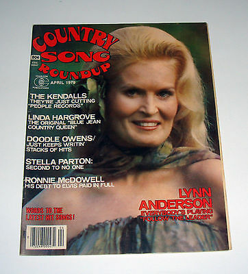 April 1979 Country Song Roundup Magazine Lynn Anderson Stella Parton