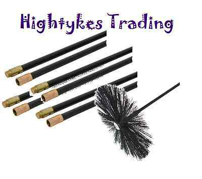 400mm Chimney Flue Cleaning Brush Sweep Sweeping Set Kit Drain Rods