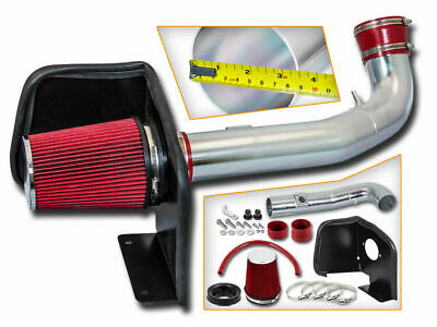 Cold Heat Shield Air Intake + RED Filter for 09-14 Chevy Suburban Tahoe V8
