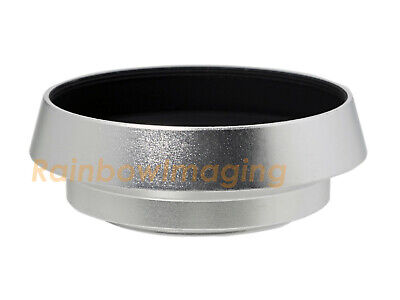 """37mm Silver Tilted Curved Lens Hood for OLYMPUS M.Zuiko 17mm f2.8 """"US SELLER"""""""