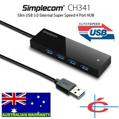 Simplecom CH341 USB 3.0 External 4 Port HUB Built-in 0.5M Cable For PC Laptop
