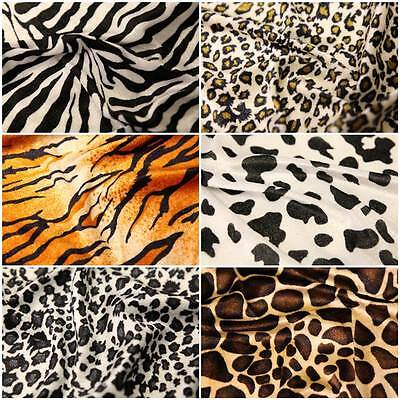 Animal Print Polyester Velour Faux Fur Dress Fabric Pony Skin Material
