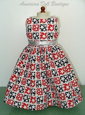 """New Handmade Patriotic Doll Dress Fits 18"""" American Girl Doll Clothes"""