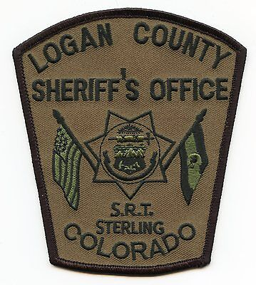 LOGAN COUNTY COLORADO CO SWAT SRT Special Response Team SHERIFF POLICE PATCH