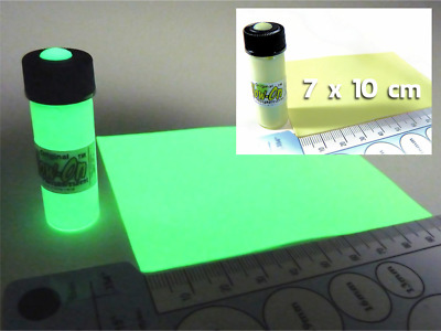 Glow On Glow In The Dark 4 6 Ml Paint For Arts And Crafts 7x 10 Cm Glow Film