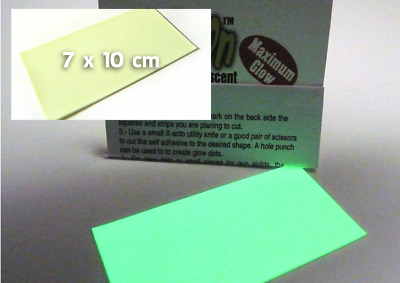 Glow-On  Extreme Glow self adhesive for gun sights and crafts 7cm x 10cm