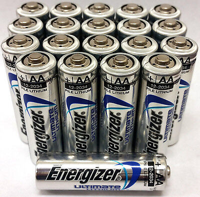Energizer Ultimate Lithium AA Batteries 20 Pack EXP 2036