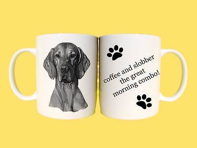 "Vizsla Smooth Dog Ceramic Mug with the caption /""I/'ll be watching you/"" /& Gift Tag"