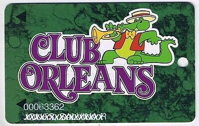 Orleans Club Casino Slot Card Alligator With Trumpet Las Vegas Nevada