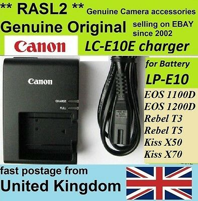 Original Canon Charger LC-E10e LP-E10 EOS 1300D 1200D 1100D,Rebel T3 Kiss X50