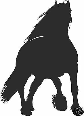 Horse Friesian Equestrian Tack Truck Trailer Farm Ranch Vinyl Sticker Decal 8""