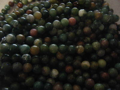 30 Round Natural Gemstone Beads 8mm Indian Agate