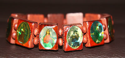 4pc Religious Custom made wood bracelets