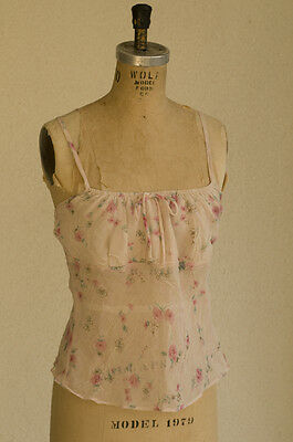 Forever 21 Size Ljr Sheer Vintage 1990s Baby Doll Cami Lined Chest USA