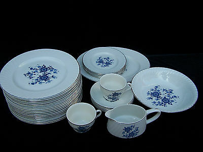 WEDGWOOD ENOCH ROYAL BLUE IRONSTONE CHINA MADE IN ENGLAND