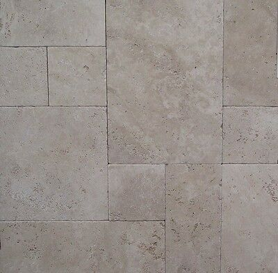 SILVER TRAVERTINE French Pattern Tumbled - $10 00 | PicClick AU