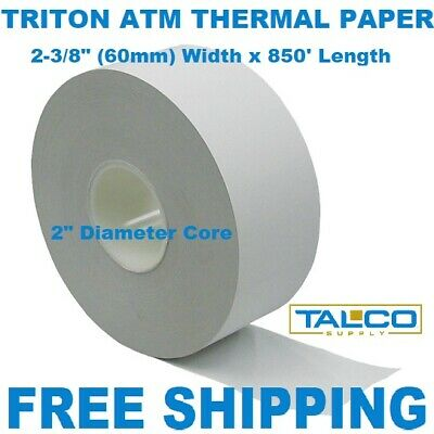 Triton Atm Thermal Receipt Paper - 10 Rolls  ~Free Shipping~