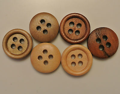 Dark Brown 4 Holes Wood Sewing Buttons Scrapbooking 15mm