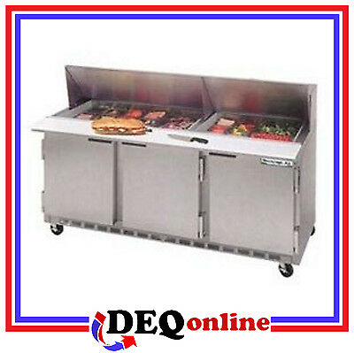 Beverage-Air Bev Air SPE72HC-30M Refrigerated Food Prep Table Mega Top