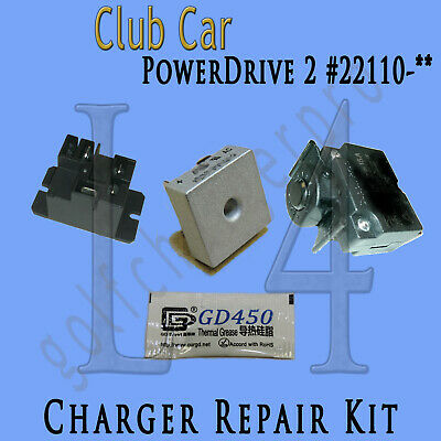 Club Car PowerDrive 2 #22110 48 Volt Golf Cart Battery Charger Repair Kit