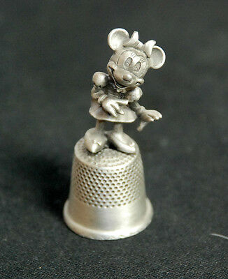 Collectible Pewter Disney Minnie Mouse Thimble for Disney Admirers!