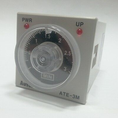 Analog Time Switch ATE-3M 3minutes Power on delay Time limit Instantaneous