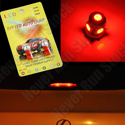 2PCS T10 168 194 5-SMD RED LED LIGHT BULB FOR 3RD BRAKE INTERIOR SHIP FROM USA