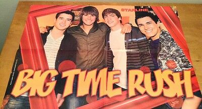"BIG TIME RUSH/JAMES MASLOW Double-Sided Magazine COLOR Pull-Outs 16 x 22"" Size"
