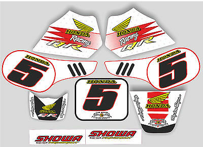 honda qr50 graphics full kit decals qr 50 stickers your name and number white