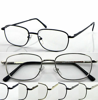 L51 Superb Classic Thin Specs Big Frame Reading Glasses Spring Hinges Value Pack