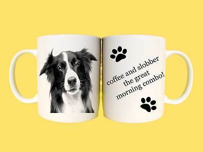 Border Collie dogs ceramic mug gift with choice of 6 captions
