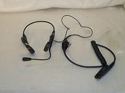 Motorola Temple Transducer Headset w/ In-Line PTT Model # RMN4048A