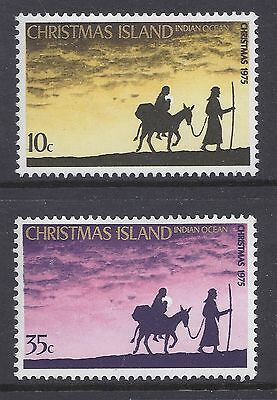 Christmas Island 1975 Christmas Fine Mint Set Of 2 Mnh/muh
