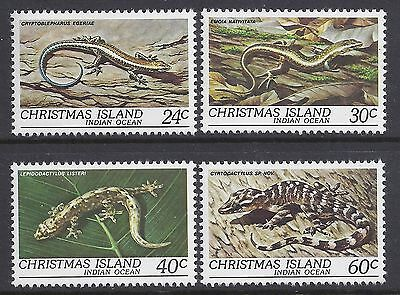 1981 Christmas Island Reptiles Fine Mint Mnh/muh Set Of 4