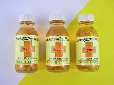 Homeopathic Cough Linctus,bryonia + Sugar Free, 2 X 50Ml, For Coughs & Colds