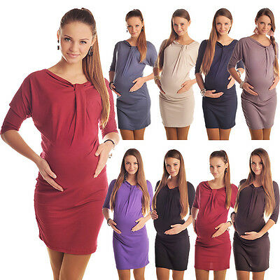Casual Maternity Batwing Dress Tunic Pregnancy Wear Size 8 10 12 14 16 18 6407