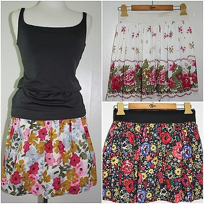 wholesale lots,10 pc!!!womens clothing floral mini skirts,3 kinds skirts,size S