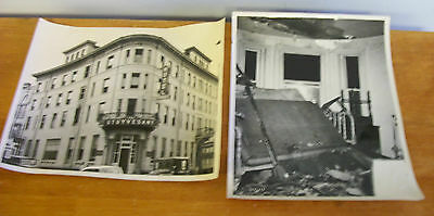 Stuyvesant Hotel KINGSTON NY 1956 Photo Lot of 2
